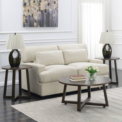3pc Jacob Occasional Table Set Distressed Gray - Picket House Furnishings