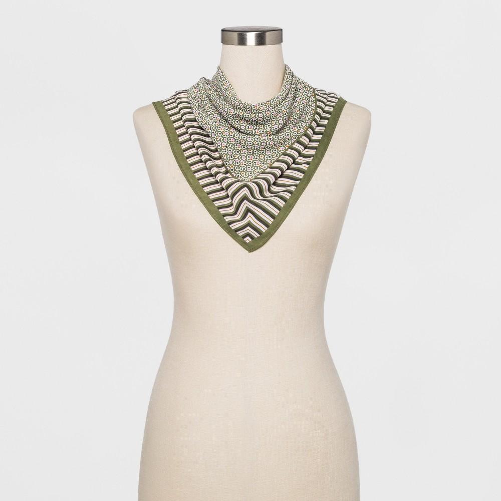 Women's Striped Neckerchief - A New Day Green