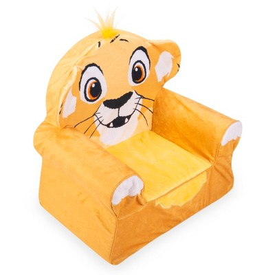 Marshmallow Furniture Comfy Foam Toddler Chair Kid's Furniture For Ages 2 Years Old And Up, Disney's The Lion King : Target