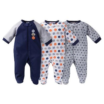 Gerber® Baby Sleep N' Play Footed Sleepers - Sports Navy 0-3 M