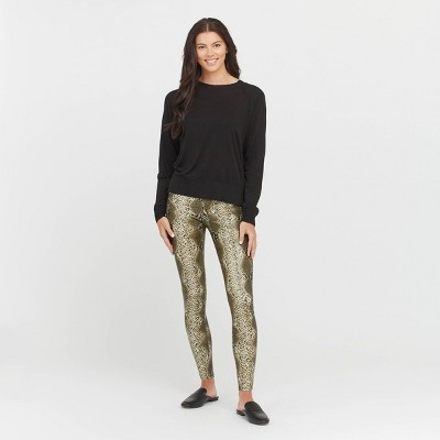 ASSETS by SPANX Women's Snakeskin All Over Faux Leather Leggings