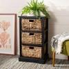 Halle 3 Wicker Basket Storage Side Table - Safavieh® - image 2 of 4