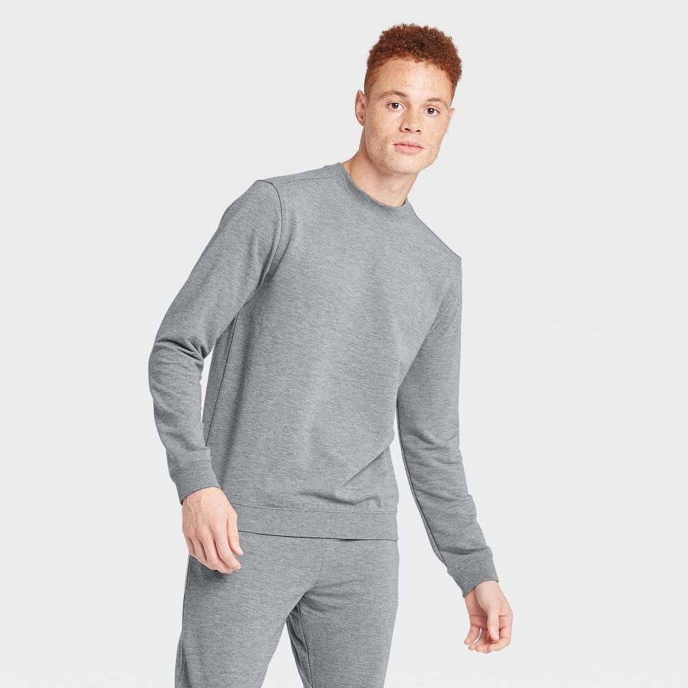 Men's Soft Gym Crew Sweatshirt - All in Motion Gray XL, Men's was $28.0 now $14.0 (50.0% off)