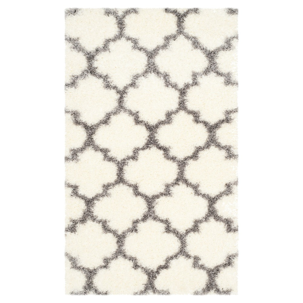 Montreal Shag Rug - Ivory/Gray - (3'X5') - Safavieh