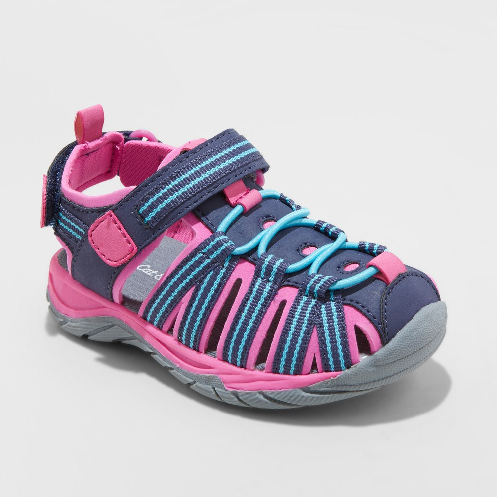 Toddler Girls' Rory Camp Hiking Sandals - Cat & Jack Navy 5, Blue
