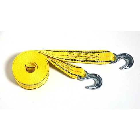 Progrip 30'x2' Tow Strap With Hook Yellow - image 1 of 3