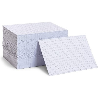 Stockroom Plus 300 Pack Grid Index Cards for Classroom Supplies (4 x 6 In)