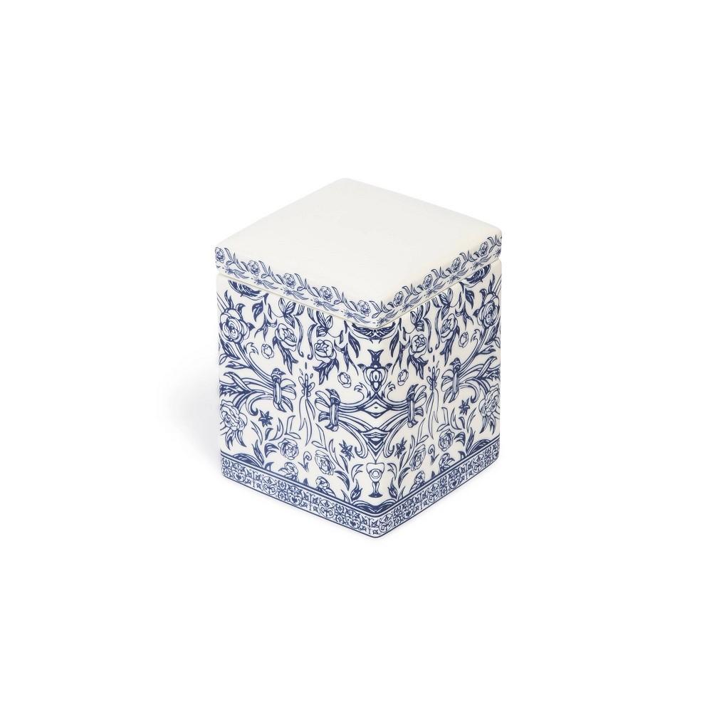 Damask Cotton Jar Blue Cassadecor
