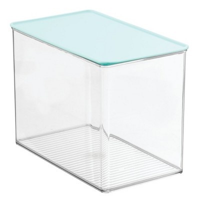 mDesign Plastic Stackable Closet Storage Bin Box with Lid
