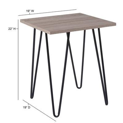 Oak End Table Brown   Riverstone Furniture