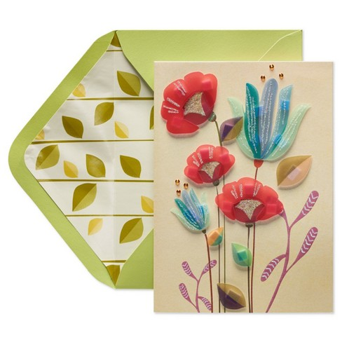 Papyrus Modern Sculpted Flowers Mother's Day Greeting Card - image 1 of 4