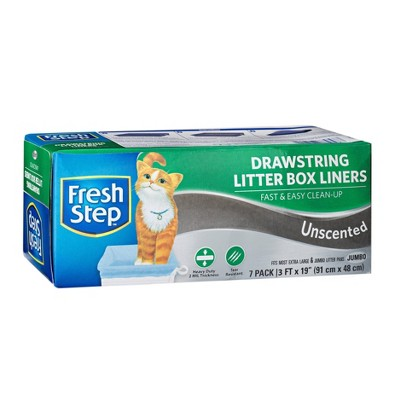 Fresh Step Cat Litter Box Liners Unscented - Jumbo