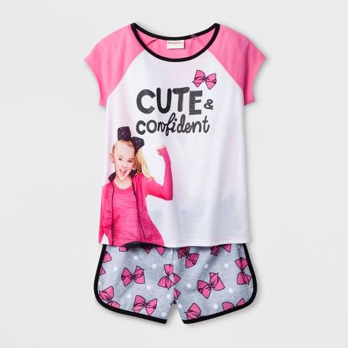 813e72a52d6 Girls' JoJo Siwa 'Cute & Confident' 2pc Pajama Set - Pink