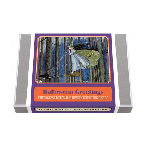 halloween greetings vintage witches halloween greeting cards