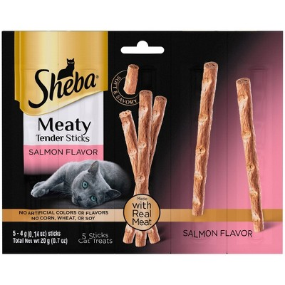 Sheba Meaty Tender Sticks Salmon Flavor Jerky Cat Treats - 0.7oz