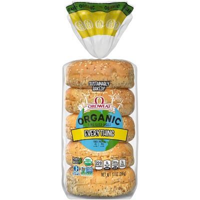 Oroweat Organic Everything Bagels -13oz/5ct