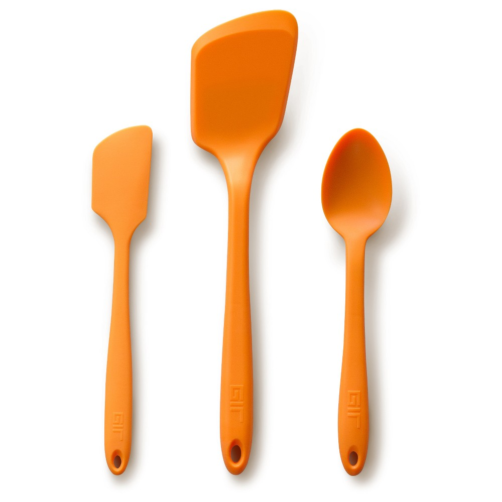 Image of Gir Mini Silicone Kitchen Tool 3pc Set Orange