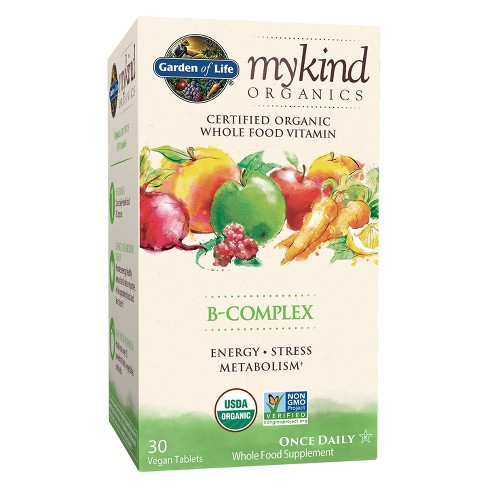 Garden of Life My Kind Organic Vitamin B-Complex Tablets - 30ct - image 1 of 4