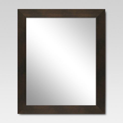 Rectangle Decorative Wall Mirror Espresso - Threshold™ - image 1 of 1