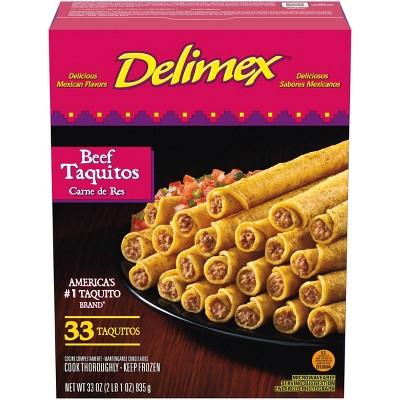 Delimex Beef Frozen Taquitos - 33oz/33ct
