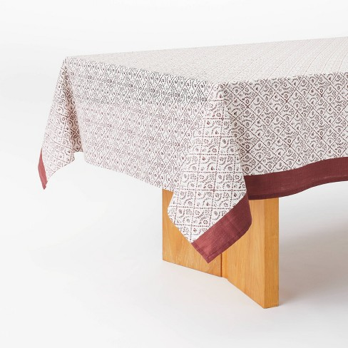 """84"""" x 60"""" Cotton Printed Tablecloth - Threshold™ designed with Studio McGee - image 1 of 4"""