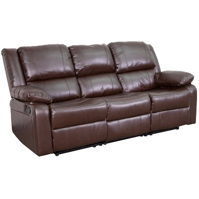 Flash Furniture Harmony Series LeatherSoft Sofa with Two Built-In Recliners