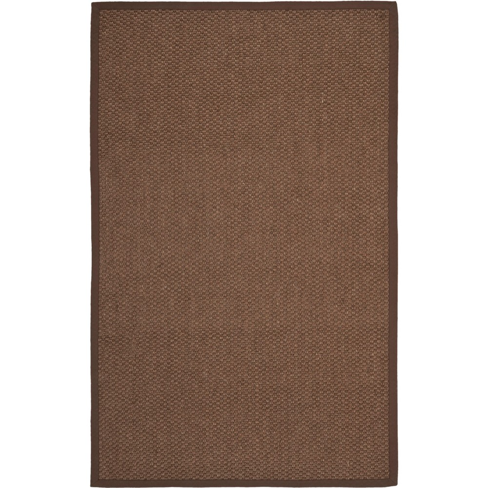 4'X6' Solid Loomed Area Rug Chocolate/Light Gray (Brown/Light Gray) - Safavieh