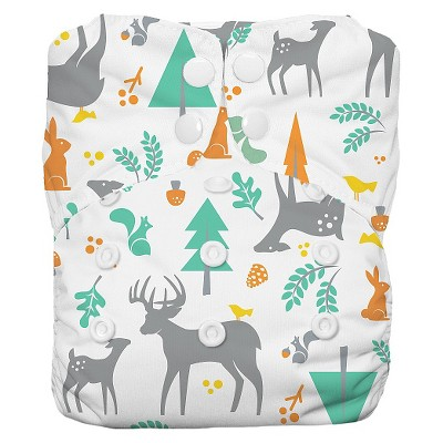 Thirsties Snap One Size All In One - Woodland