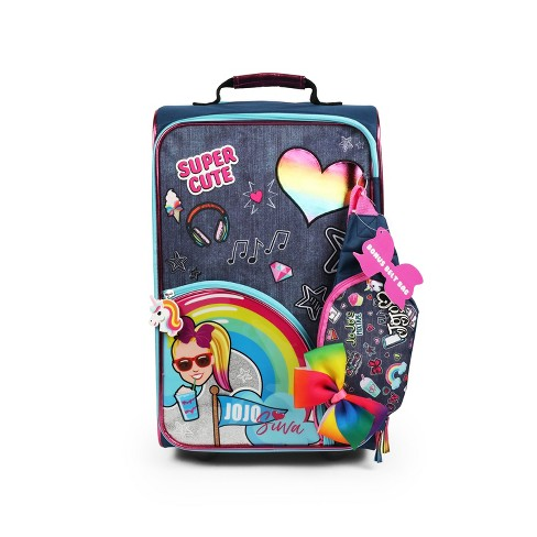 """JoJo Siwa 18"""" Hardside Kids' Suitcase - Blue - image 1 of 4"""