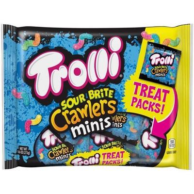 Trolli Sour Halloween Brite Crawlers Mini Gummy Candy - 9.6oz