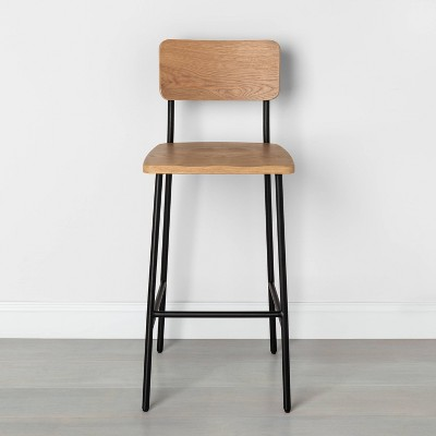 Wood & Steel Bar Stool Black - Hearth & Hand™ with Magnolia