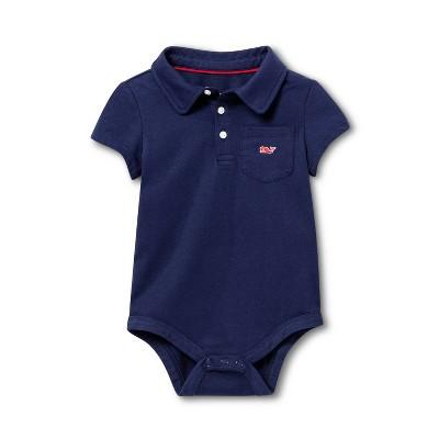 Baby Polo Short Sleeve Bodysuit - Navy 0-3M - vineyard vines® for Target