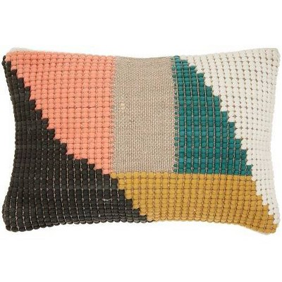 Life Styles Woven Geometric Lumbar Throw Pillow   Mina Victory by Mina Victory