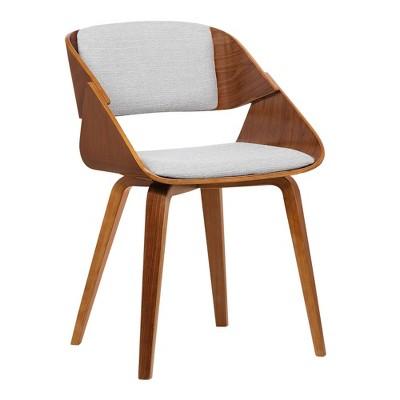 Emmons Mid-Century Dining Chair Gray/Walnut - Armen Living