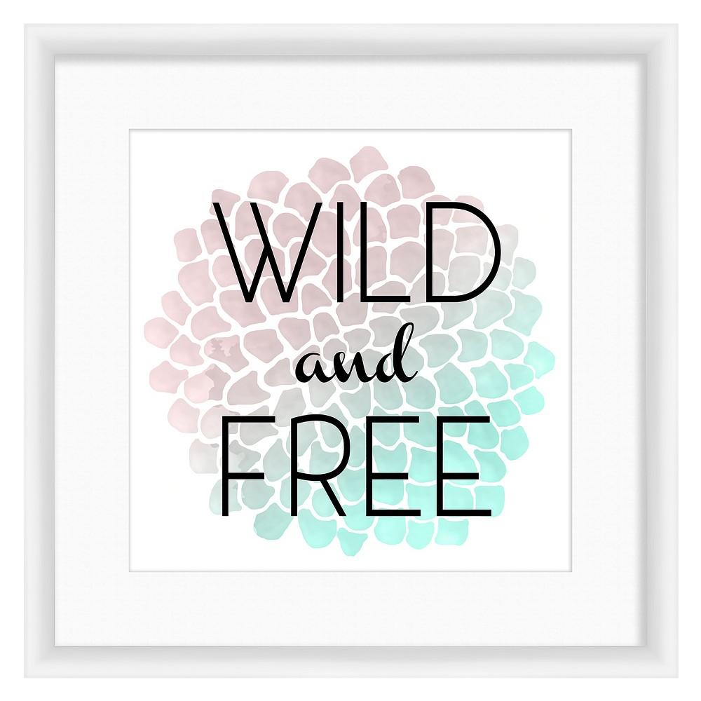 Wild & Free 18X18 Wall Art, Multi-Colored