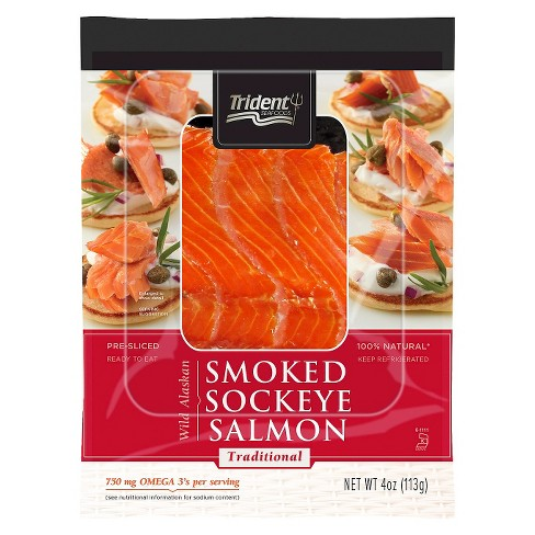Trident Hot Smoked Sockeye Traditional Salmon -4oz - image 1 of 1