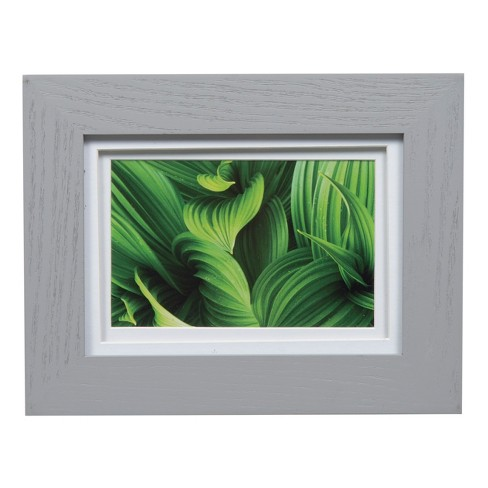 Single Picture 5X7 Wide Double Mat Gray 4X6 Frame - Gallery Solutions - image 1 of 4