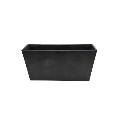Modern Rectangular Indoor/Outdoor Planter Black - Hi-Line Gift