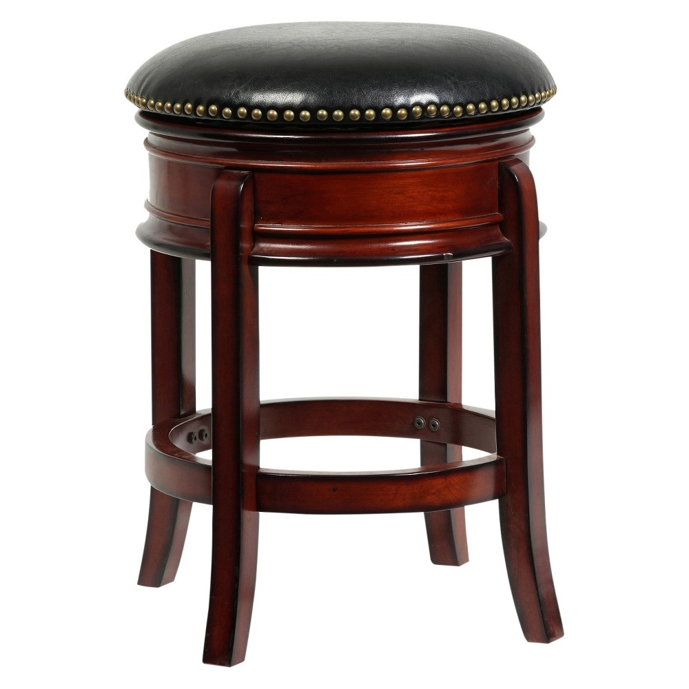 "Image of ""24"""" Hamilton Swivel Counter Stool Brandy - Boraam, Brown"""