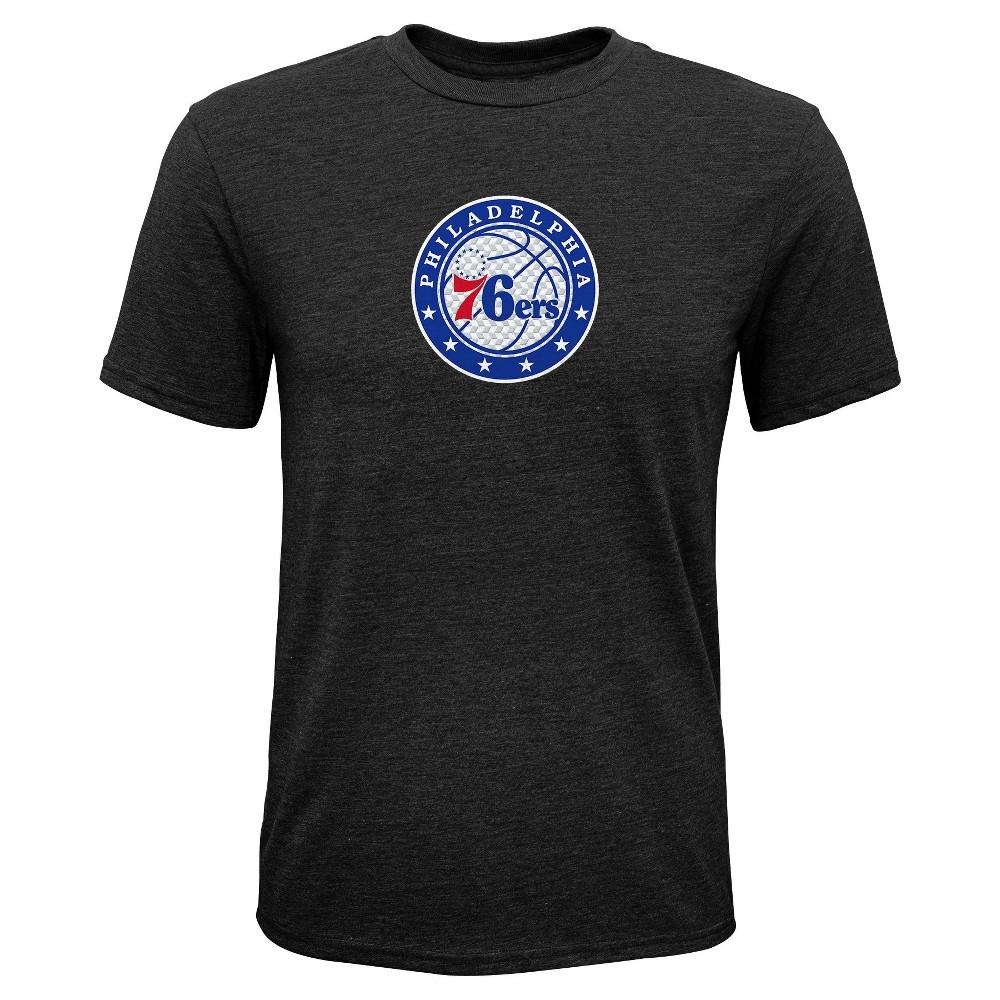 Philadelphia 76ers Boys' Buzzer Beater Gray Performance T-Shirt XS, Multicolored