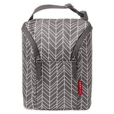 Skip Hop GRAB & GO Double Bottle Bag - Gray Feather