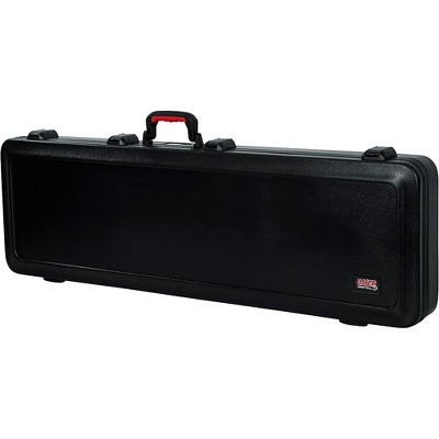 Gator TSA ATA Molded Bass Guitar Case Black Black