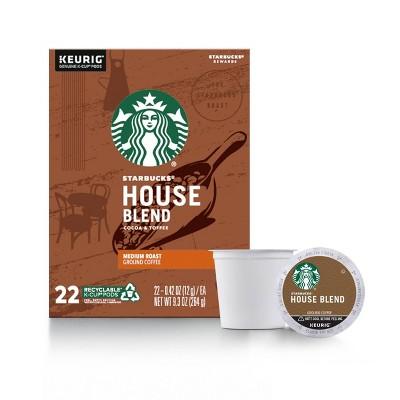 Starbucks House Blend Medium Roast Coffee - Keurig K-Cup Pods - 22ct
