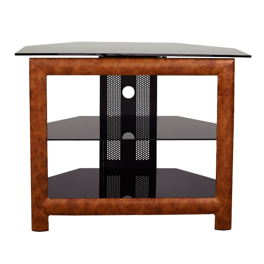 "Image of ""24"""" Glass/Wood TV Stand Brown - Home Source Industries"""