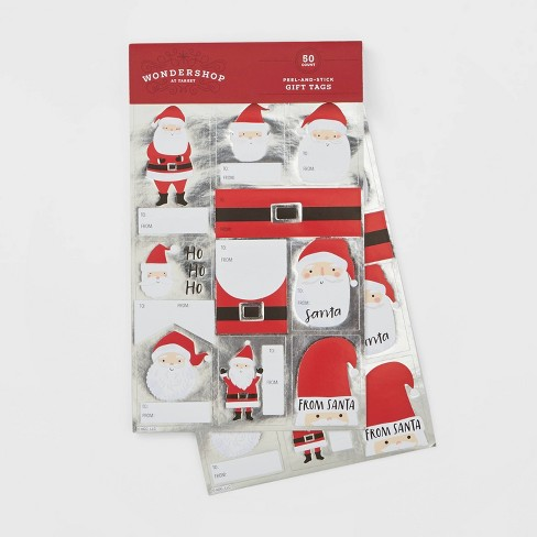 50ct Santa Belt Sticker Gift Tags - Wondershop™ - image 1 of 1