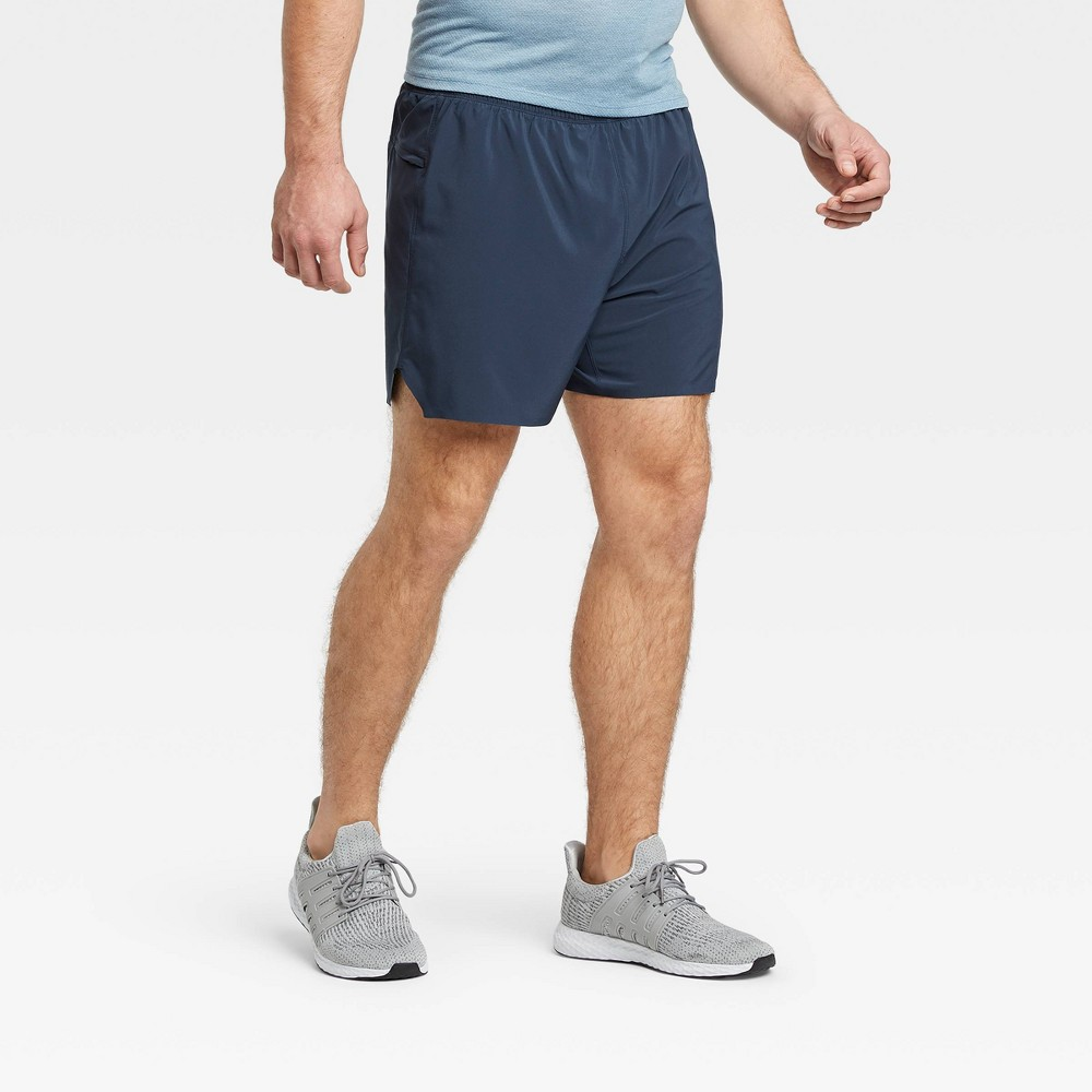 Men 39 S 5 34 Lined Run Shorts All In Motion 8482 Navy Xl
