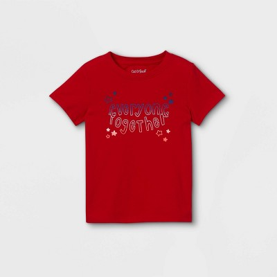 Toddler Boys' 'Everyone Together' Graphic Short Sleeve T-Shirt - Cat & Jack™ Bright Red