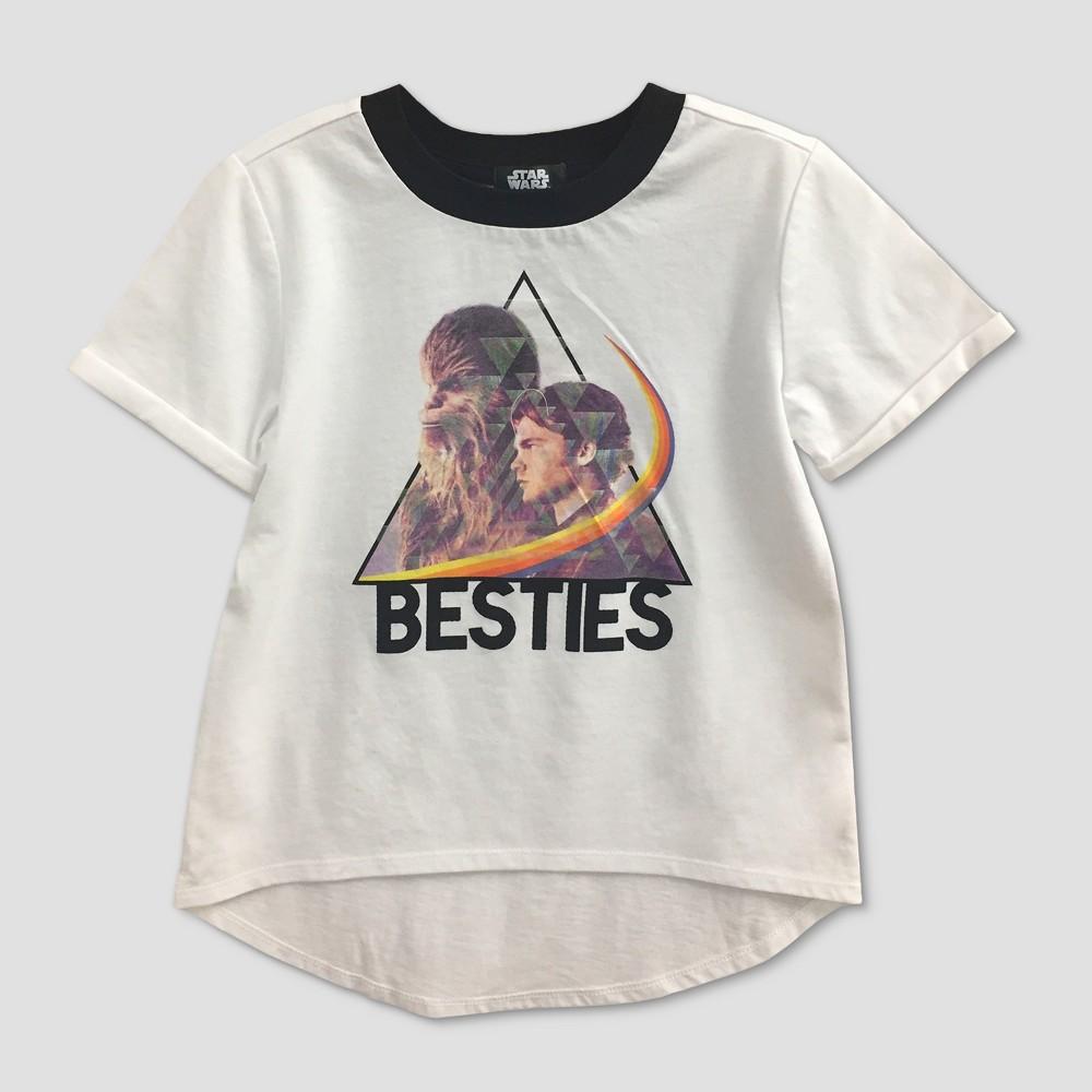 Girls' Star Wars 'Besties' Short Sleeve T-Shirt - White XS, Gray