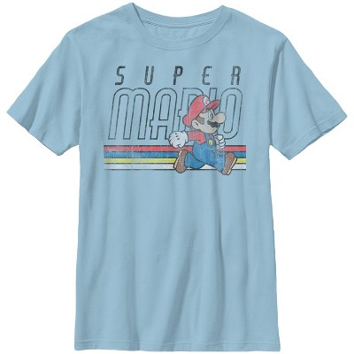 Boy's Nintendo Super Mario Classic Stripes T-Shirt