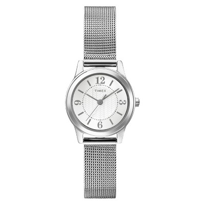 Women's Timex Watch with Mesh Bracelet - Silver T2P457JT